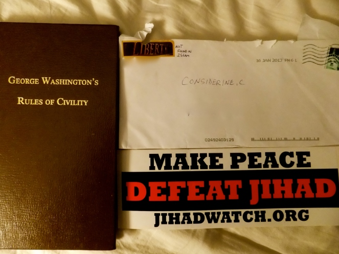 Hate mail from Jihad Watch Org