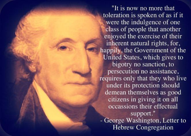 Washington on toleration