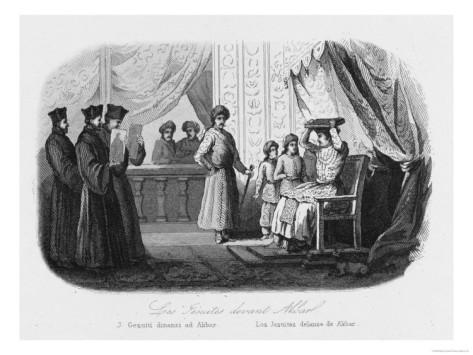 Akbar receives the Jesuit's