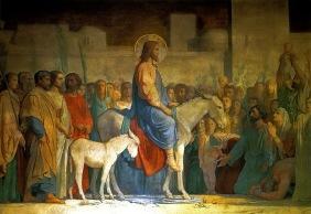 Jesus returns to Jerusalem (Hippolyte Flandrin c. 1842)