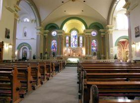 Inside of Saint Teresa's in Dublin)