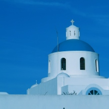 Greek Orthodox in Santorine, Greece