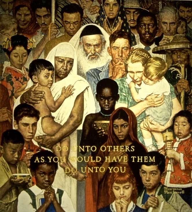 "Norman Rockwell - ""The Golden Rule"""