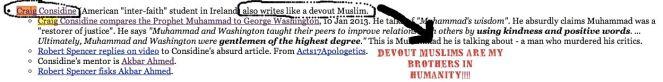 "Craig Considine, ""devout Muslim"""