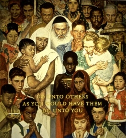 """Norman Rockwell's """"The Golden Rule"""""""