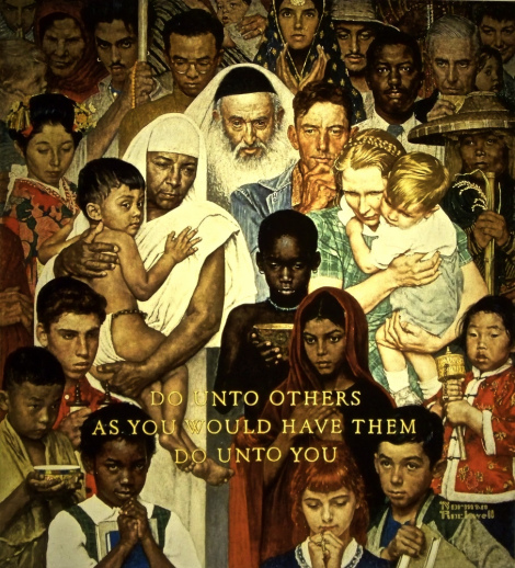 "Norman Rockwell's ""The Golden Rule"""
