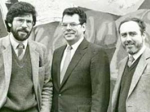 Peter King with a questionable Irish lad (Gerry Adams, left)