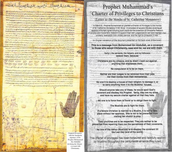 Letter Muhammad sent to Christian monks at St. Catherine's, Mt. Sinai