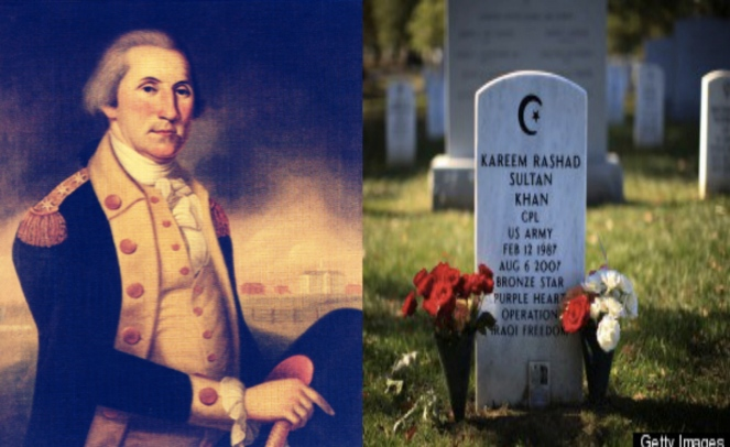 General George Washington would honor Muslim American veterans who have died in battle fighting for the US.
