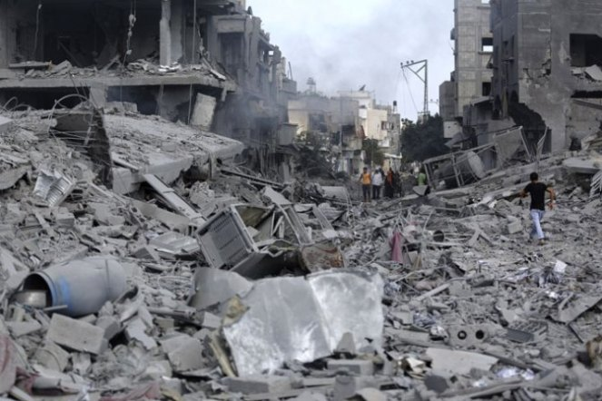 The total destruction of the Gaza Strip
