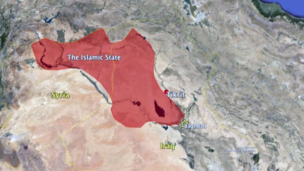 The Islamic State has carved itself out a huge chunk of land in the Middle East. Source: cbc.ca
