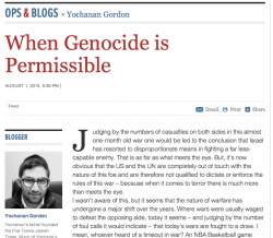 Genocide is never permissible, you idiot