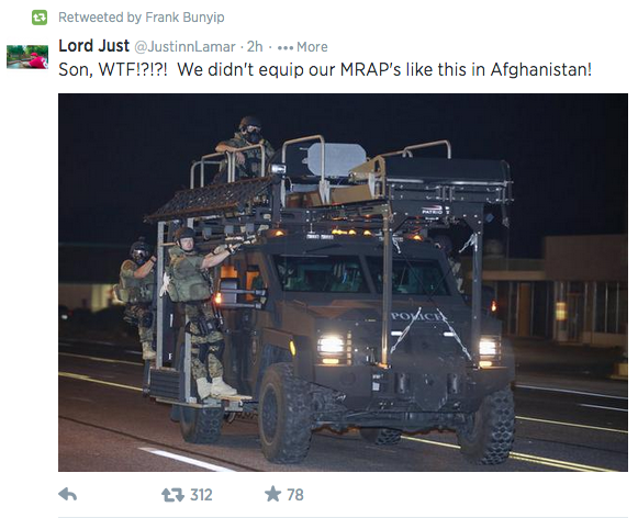 The militarization of American society in one photo