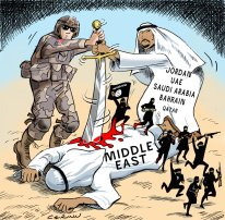 Image result for caricature u.s. saudi arabia israel