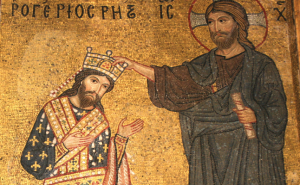 Roger II being crowned
